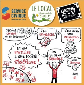 20 service civique le local
